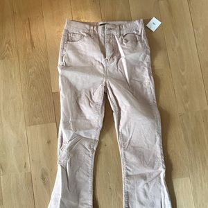 light pink Urban Outfitters flare corduroys